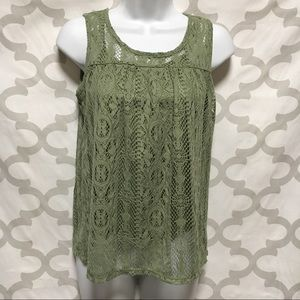 Pinky 14/16 lace top with attached tank